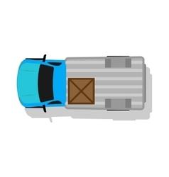 Car Van Top View Flat Design vector