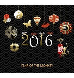 Chinese new year 2016 monkey symbol decoration vector
