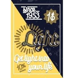 Color vintage lighting shop poster vector image