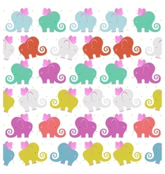Colored flying elephants vector