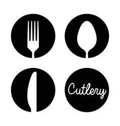 cutlery menu design vector image