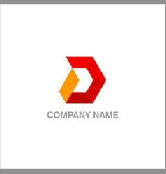 d shape logo vector image