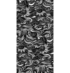 Decorative seamless pattern zen-tagle style vector