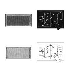 Design of soccer and gear icon set of vector