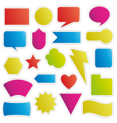 Different colorful shapes sticker style vector