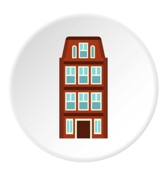 Dutch house icon flat style vector