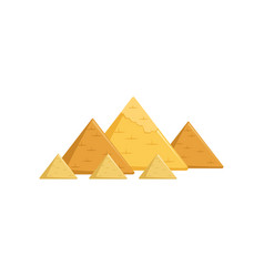 egyptian great pyramids attractions egypt vector image