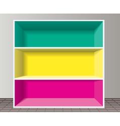 Empty bookshelf vector