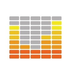 Equalizer design music and sound icon vector