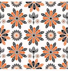 Ethnic style folkart floral pattern vector