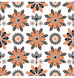 ethnic style folkart floral pattern vector image