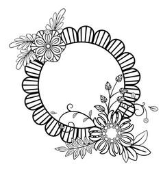 Flowers decorative frame vector