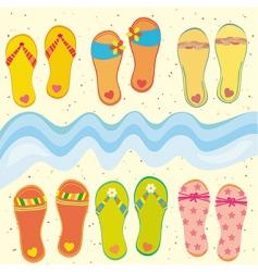 Funny flip-flops vector