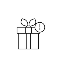 gift box icon marketing icon thin line icon for vector image