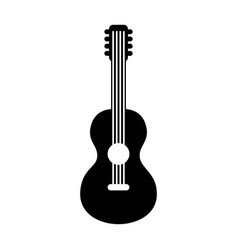Guitar hippie style icon vector