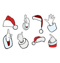 hands of santa claus vector image