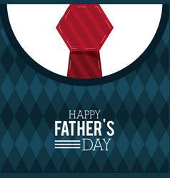 Happy fathers day greeting card lettering vector