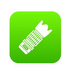 Interchangeable lens for camera icon digital green vector