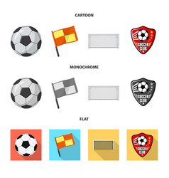 Isolated object of soccer and gear sign set of vector