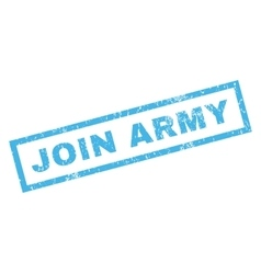 Join Army Rubber Stamp vector