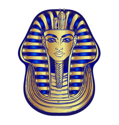 King tutankhamun mask ancient egyptian pharaoh vector
