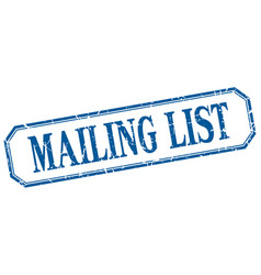 Mailing list vector