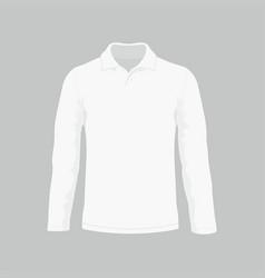 mens white long sleeve t-shirt vector image