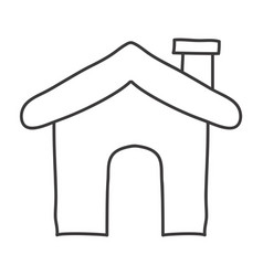 monochrome contour of house icon vector image
