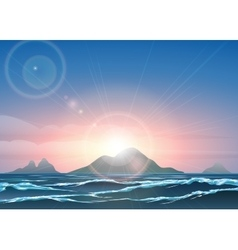 Morning Seascape Background vector image