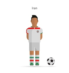 National football player iran soccer team uniform vector