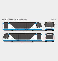 Neoplan airliner n 9122 airport passenger bus vector