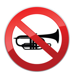 No sound sign keep quiet symbol loud sounds ban vector