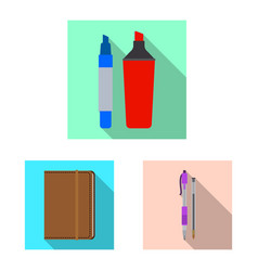Office and supply icon vector