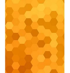 Orange abstract hexagonal honey comb background vector image