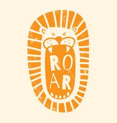 orange textured roar vector image
