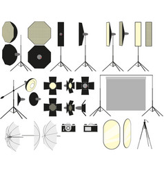 photo studio accessories vector image
