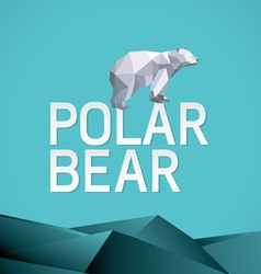 polar bear stylized triangle vector image