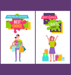 premium goods and best choice vector image
