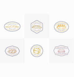 premium quality bread signs or logo vector image