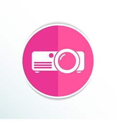 projector icon Rounded squares button symbol vector image