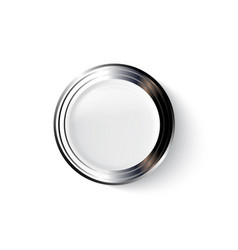realistic metal and plastic button vector image