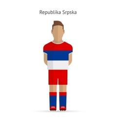 Republika Srpska football player Soccer uniform vector