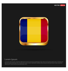 romania flags design card vector image