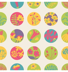 Seamless patter with flowers vector