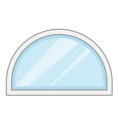semicircular window frame icon cartoon style vector image