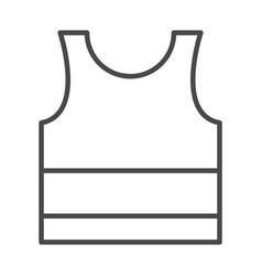 sleeveless sport shirt wear line icon design vector image