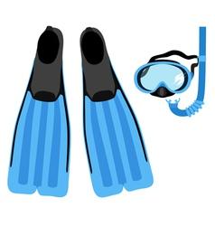 Snorkeling set vector
