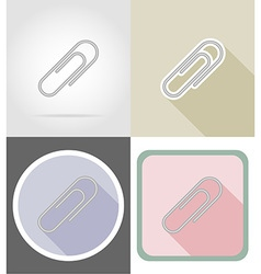 Stationery flat icons 02 vector