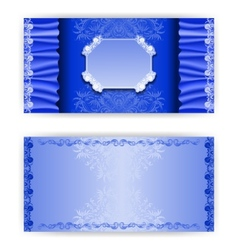 template royal invitation card vector image