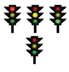 Traffic lights 1 vector image
